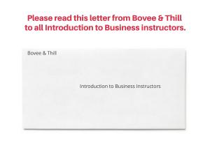 Bovee & Thill Letter